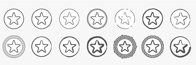 разная стилистика одной иконки при разном стиле линий обводки