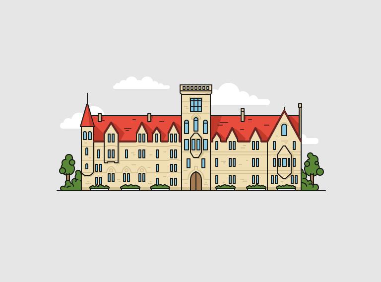 Иллюстрация для сайта, британский вуз, Оксфордский университет
