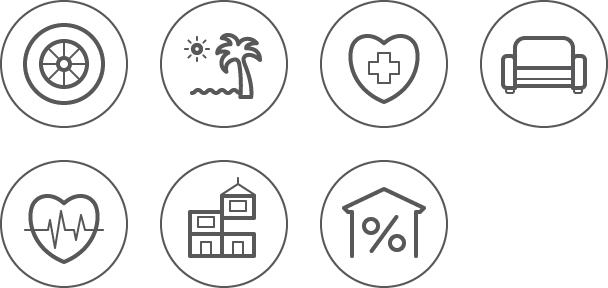 Контурные иконки для сайта холдинга