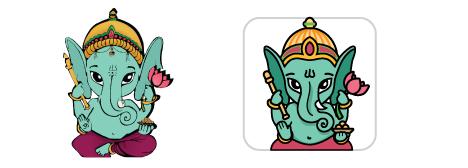 Редизайн логотипа персонажа для мобильного приложения