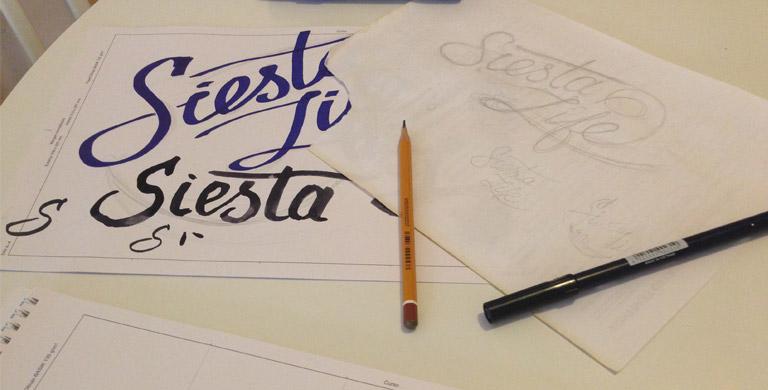 Процесс создания логотипа для блога Сиеста Лайф 2