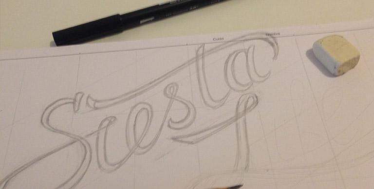 Процесс создания логотипа для блога Сиеста Лайф 3