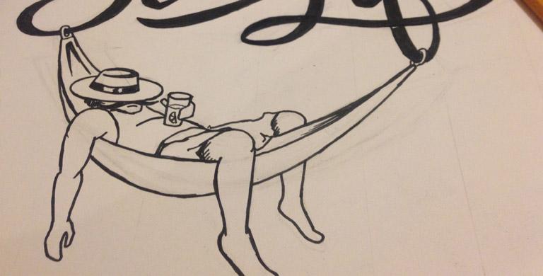 Процесс создания логотипа для блога Сиеста Лайф доработка эскиза